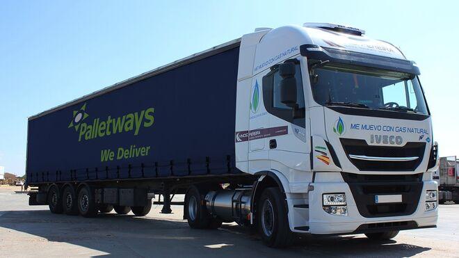 Palletways Iberia incorpora  camiones con tecnología GLP