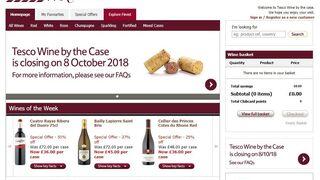 Tesco cerrará su tienda online especializada en vinos