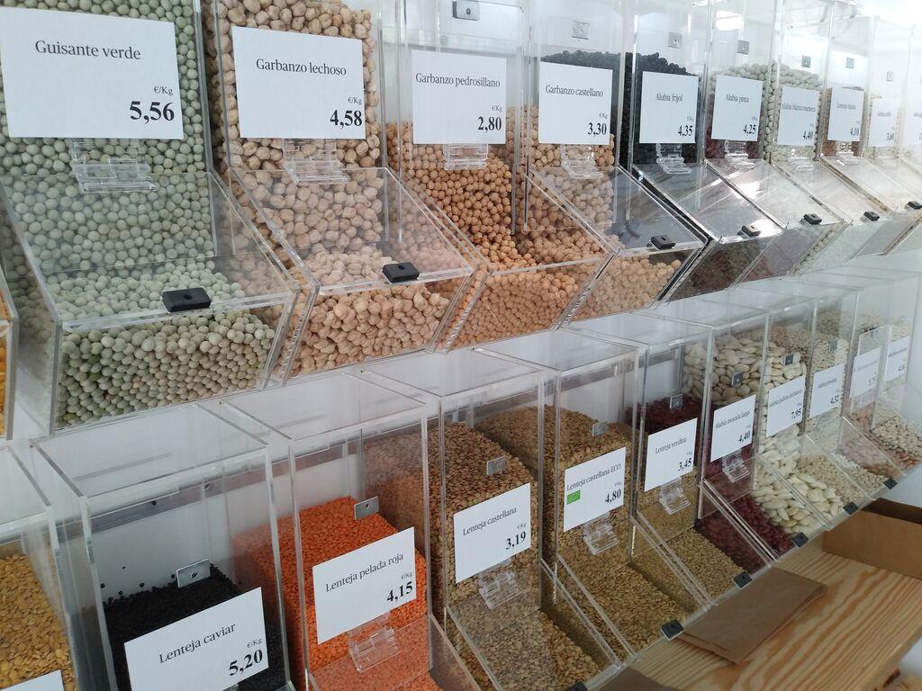 Legumbres a granel, con gran variedad