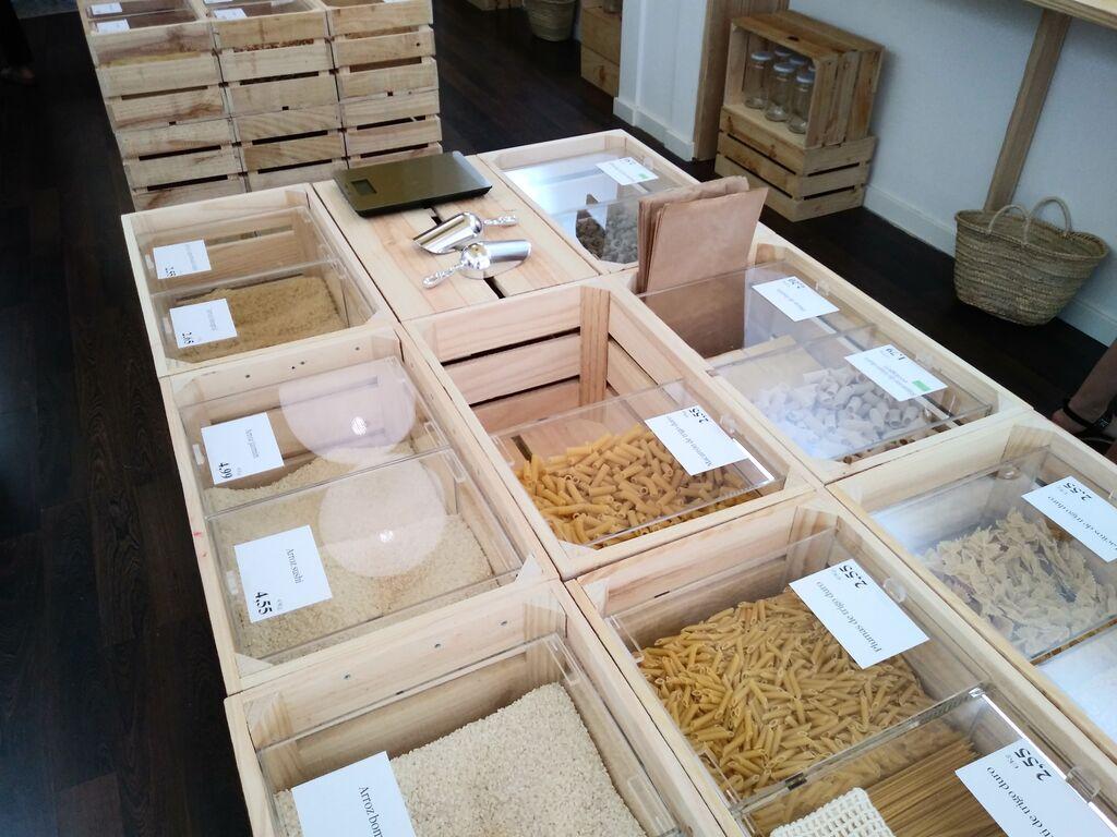 Varios tipos de pastas y arroces en Unpacked