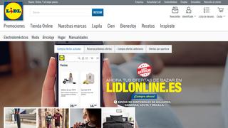Imagen de la tienda online de Lidl España