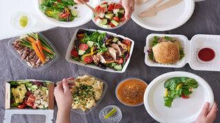 La comida sana se dispara cuando se pide a domicilio