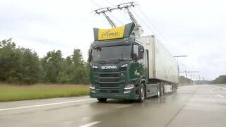 La revolución verde: camiones de mercancías como tranvías