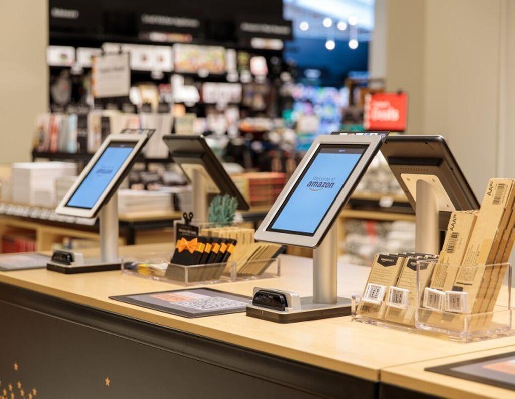 Zona de pago de Amazon 4-star, como siempre con la última tecnología para permitir pagos rápidos