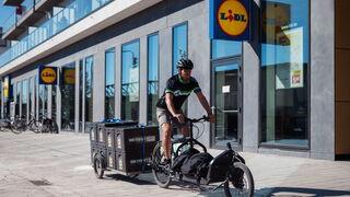 Lidl estrena un servicio online de frescos en bicicleta