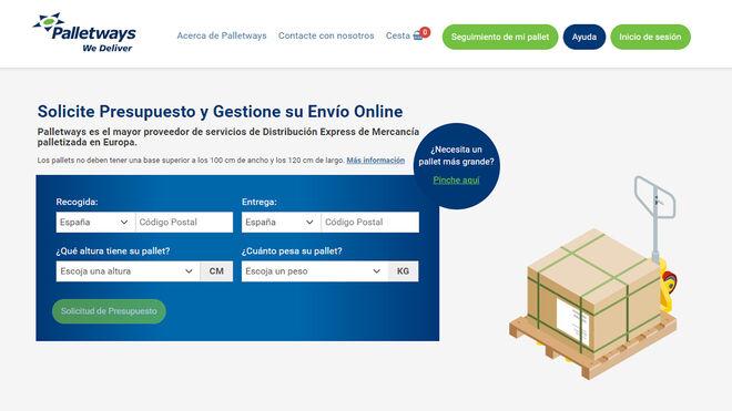 Palletways Iberia activa su nueva herramienta online