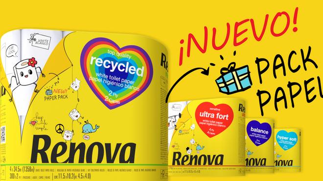 Renova dice adiós al plástico en sus envoltorios