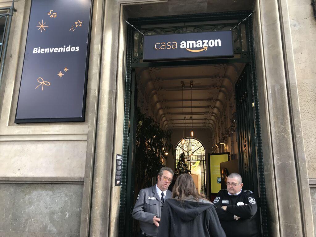 Así es la entrada de la 'Casa Amazon'