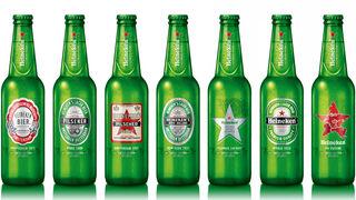 Heineken recupera los diseños históricos de su etiqueta hasta Navidad