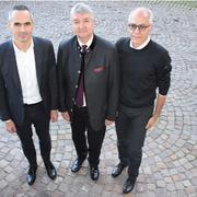 Walter Pardatscher, Georg Kössler (presidente del Consorcio) y Gerhard Dichgans
