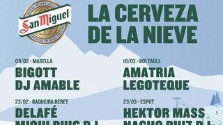 Cerveza, esquí y conciertos: la apuesta de San  Miguel para despedir el invierno