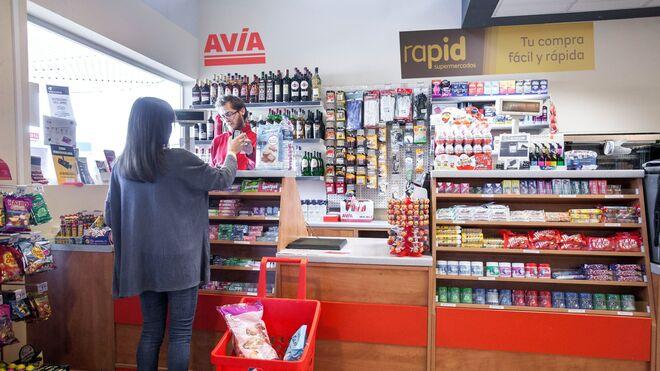 Eroski estrena su Rapid en la gasolinera Avia de Pamplona