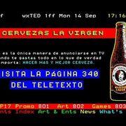 La Virgen ya vende su cerveza a través del Teletexto
