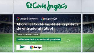 El Corte Inglés se estrena en la venta de entradas de fútbol