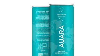 Auara lanza agua mineral natural con gas en lata