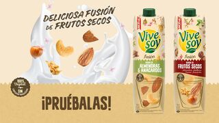 Vivesoy lanza Fusión, bebida vegetal a base de frutos secos
