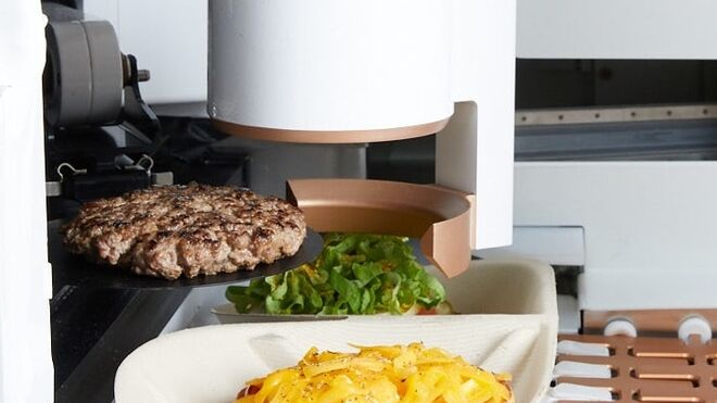 Hamburguesas gourmet exprés hechas por un chef... robot