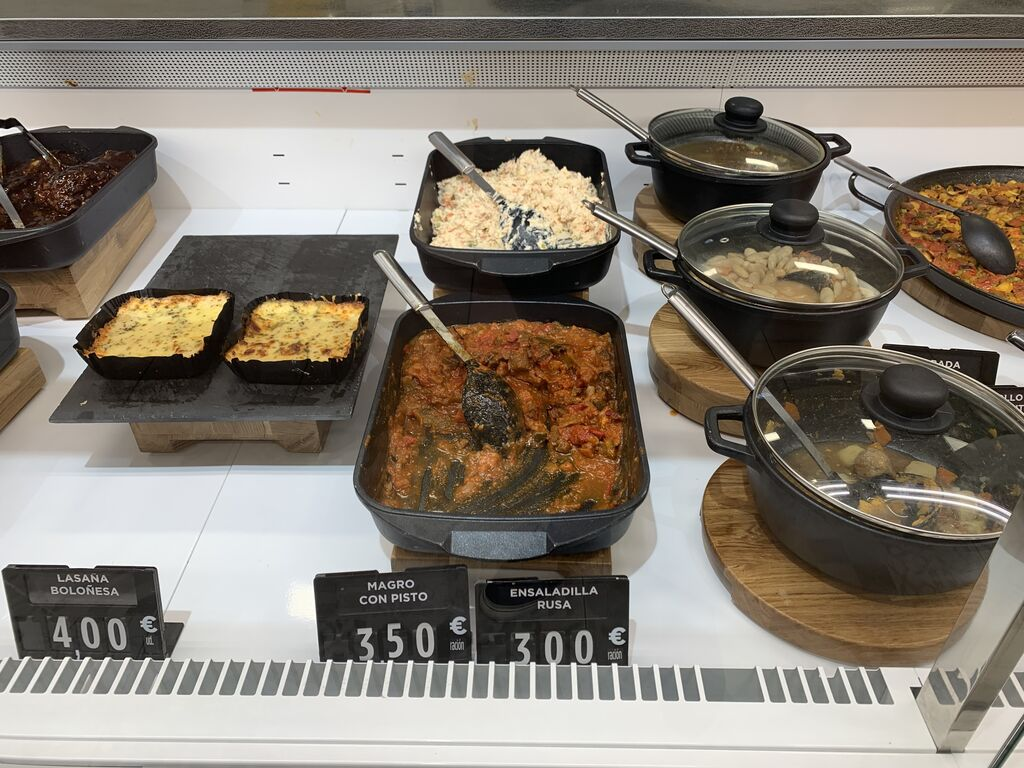 Lasaña, platos de cuchara... buena opción como comida en una zona de oficinas como Las Tablas (Madrid)