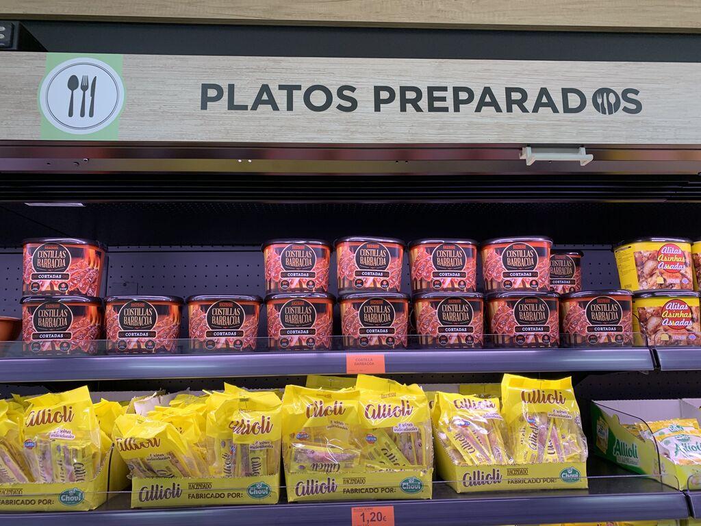 La zona de platos preparados, perfectamente señalizada