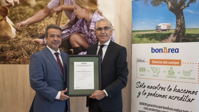 bonÀrea obtiene el certificado 'Directo del campo'
