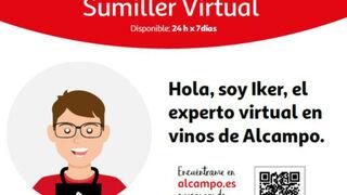 Alcampo presenta a Iker, su sumiller virtual que recomienda vinos