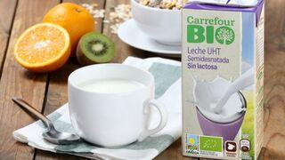 Carrefour lanza su primera leche sin lactosa bio