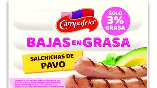 Nuevas salchichas de pavo bajas en grasa de Campofrío