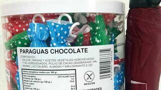Sanidad lanza una alerta por alérgenos no declarados en paraguas de chocolate