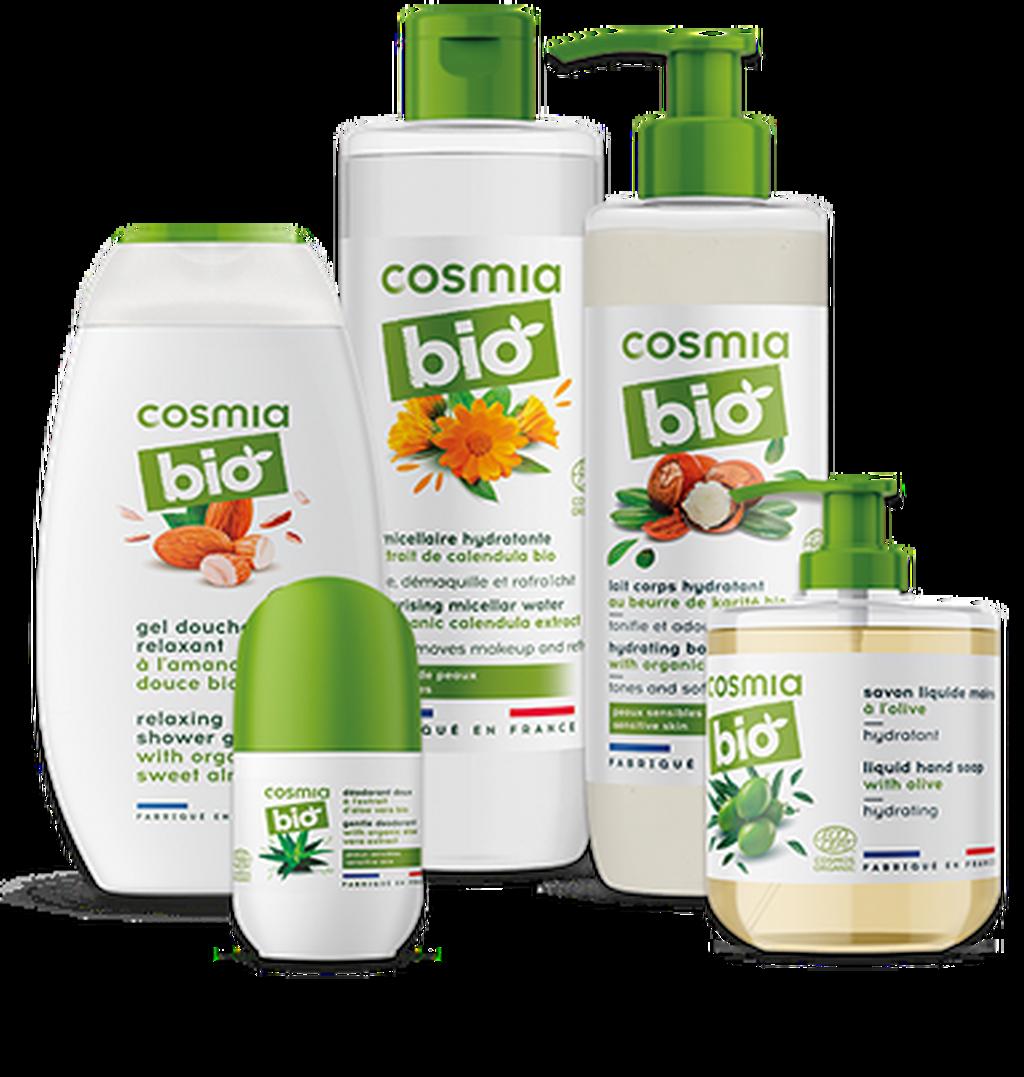 Algunos productos de la gama Cosmia Bio