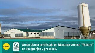 Uvesa certifica sus granjas con el sello Bienestar Animal