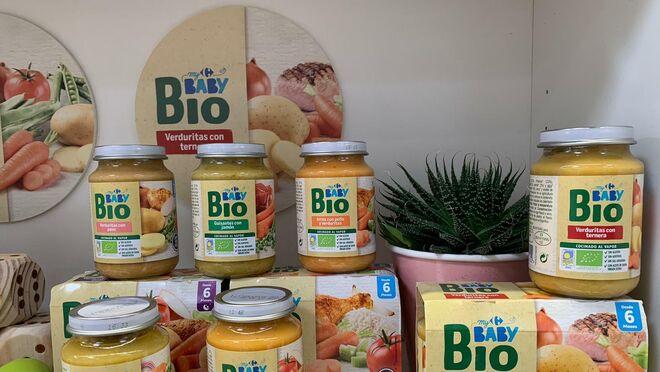 Carrefour apuesta por la alimentación bio en su gama para bebés