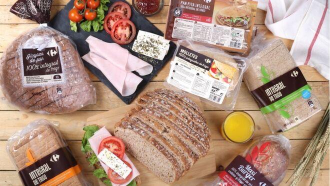 Carrefour lanza su nueva gama de pan 100% integral