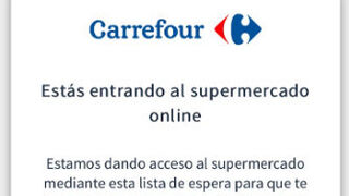 Carrefour implanta una cola virtual para su compra online