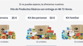 Carrefour vende online kits básicos de alimentación