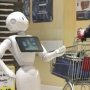 Edeka implanta un robot que ayuda a mantener la distancia de seguridad