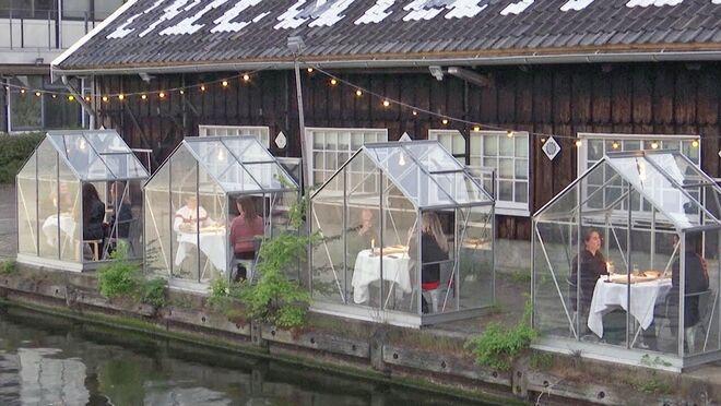 La solución holandesa: mesas 'blindadas' contra el coronavirus en el restaurante