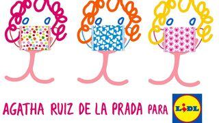 Lidl lanza una colección de mascarillas diseñadas por Agatha Ruiz de la Prada