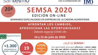 SEMSA 2020, seminario sobre las nuevas oportunidades para el sector alimentario