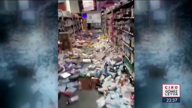 Así  ha quedado este híper tras el fuerte terremoto en México