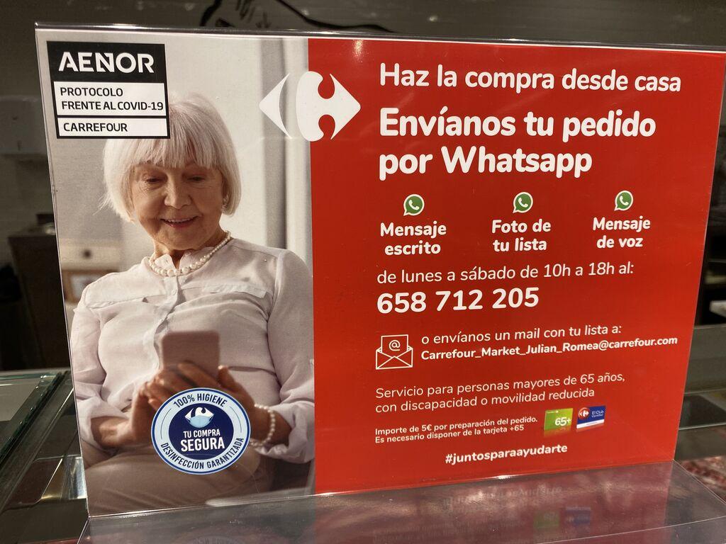 Más cartelería con mensajes para los seniors