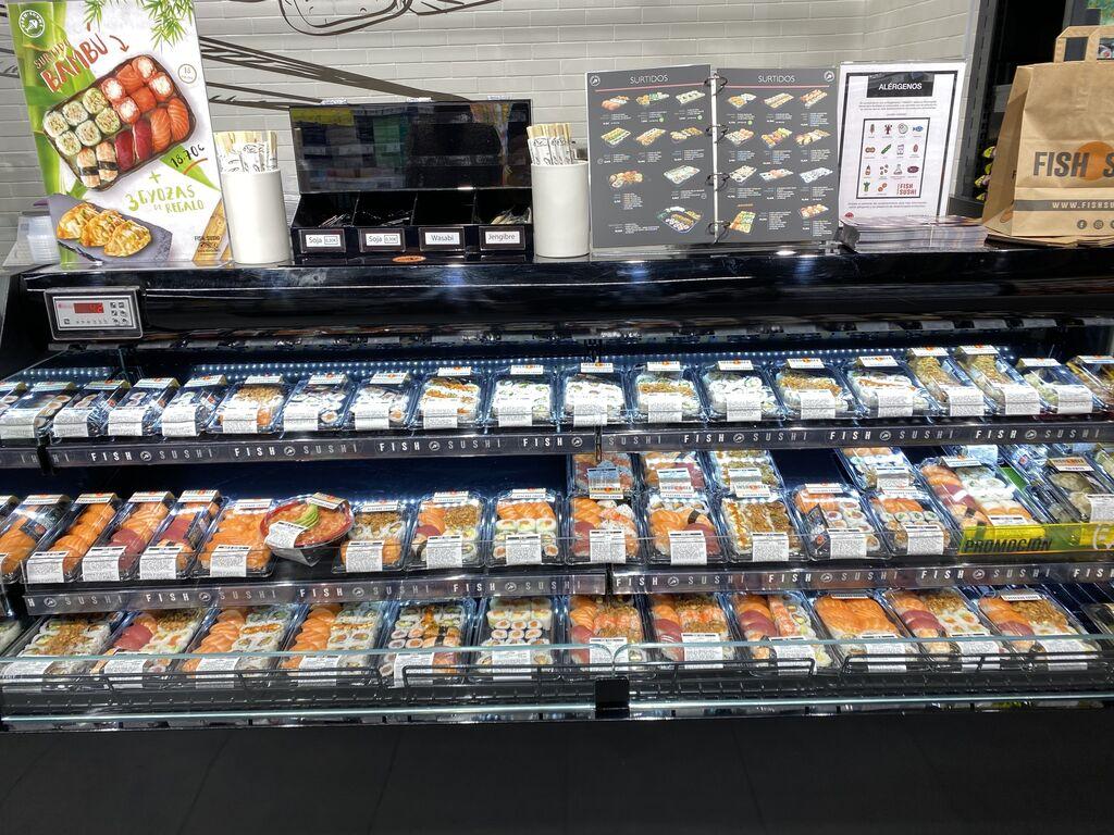 El sushi no podía faltar en una buena oferta de platos preparados