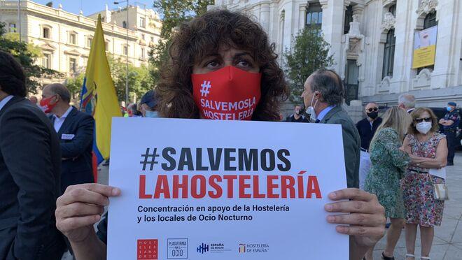 La hostelería se manifiesta en Madrid para denunciar la crisis del sector