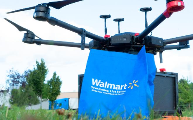 Walmart prueba la entrega a domicilio con drones