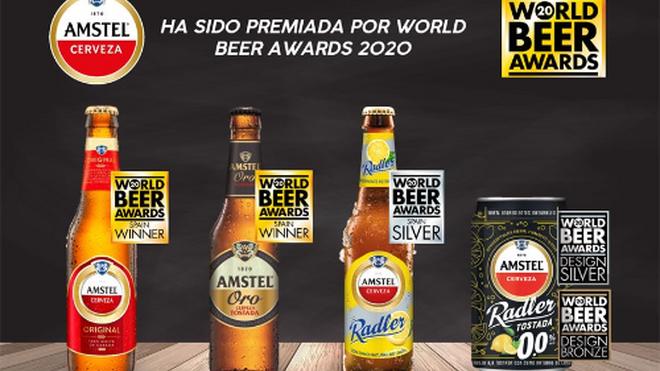 Premios internacionales para las cervezas de Cruzcampo y Amstel