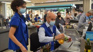 Rami Baitiéh, ¡a pie de caja en Carrefour Francia!