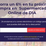 Ahorra hasta 9 euros en tu próxima compra en Dia online