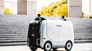 El nuevo robot de Alibaba que reparte 500 paquetes al día