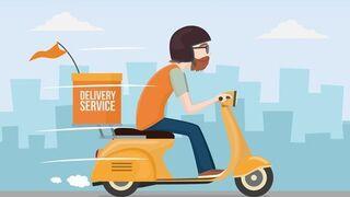 El delivery sigue 'atascado' en Madrid debido al temporal