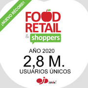Food Retail & Shoppers cierra 2020 con 2,8 M. de usuarios