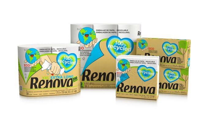 Renova lanza la gama Renova 100% Recycled y refuerza su compromiso medioambiental